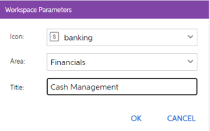 Personalise menu in MYOB Advanced
